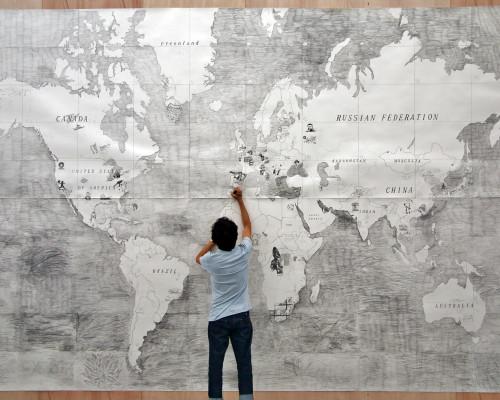 『世界を描く』制作風景